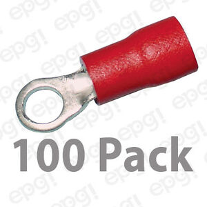 3M RING TERMINAL VINYL #6 RED 22-18 GAUGE #3M106-100PK