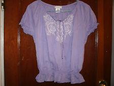 Kate Hill ladies purple dressy top size P/S