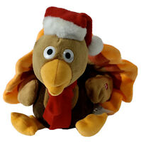 """Animated 8"""" x 9"""" Turkey Sings """"The Bird Is The Word"""" Thanksgiving Christmas"""