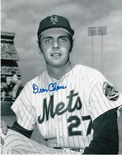 DEAN CHANCE  NEW YORK METS   ACTION SIGNED 8x10