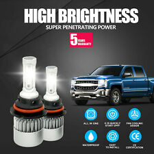 9007 LED Headlight Bulb Kit HB5 Hi/Low Beam 6500K White 72W 240000LM for Nissan