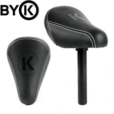 BYK E-250 Kids Seat Bike Saddle with  22.2mm Post - Black (130mm Post)