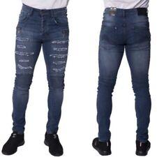 Pantaloni da uomo blu skinny , Taglia 32
