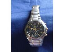 Seiko Men's Chronograph Watch Dr Blue dial TWO TONE l SND585