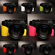 Genuine Real Leather half Camera Case Bag Cover for Panasonic GX8 8 colors