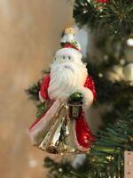 Pier 1 Olde World Glittered Santa Christmas Ornament