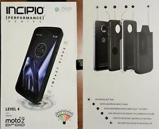 New INCIPIO Performance Series Level 4 Black Case with Holster Moto Z Play Droid