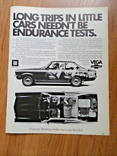 1972 Chevrolet Vega Ad Long Trips in Little Cars Needn't be Endurance Tests