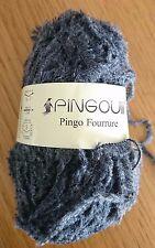 6 pelotes laine poilue pingouin trés douces : couleur: gris