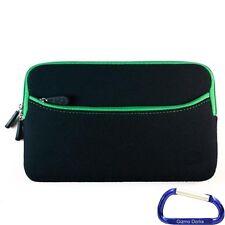 Neoprene Zipper Sleeve Case Cover (Black Green) for Kobo Arc eReader