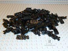 LEGO® 100 schwarze Platten 1 x 2 mit Clip horizontal 63868 9474 10219 NEUWARE
