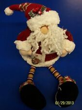 Button Leg Santa Claus Hanna's Handiworks Christmas Gift Collectible Figurine