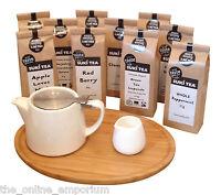 FORLIFE WHITE LOOSE LEAF TEAPOT, BAMBOO TRAY & CREAMER GIFT SET - ADD SUKI TEA