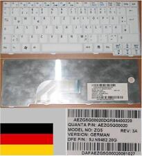 CLAVIER QWERTZ ALLEMAND ACER ASPIRE ONE D250 P531 Series ZG5 9J.N9482.20G Blanc