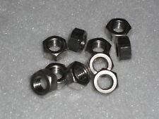 10x M7 acier inoxydable complet noix (lambretta vespa, piaggio) din934-a2