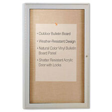 Ghent Enclosed Outdoor Bulletin Board, 36 x 24, Satin Finish, EA GHEPA13624VX181