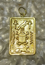 Sphinx ankh Gold pltd sterling s Look Egyptian Pendant Charm Scarab Beetle Egypt