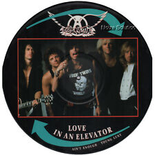 "EX! AEROSMITH LOVE IN AN ELEVATOR 12"" VINYL PICTURE PIC DISC"