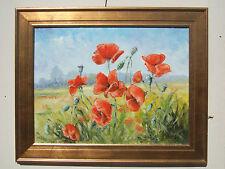 """Poppies - summer"" oil on canvas, Irek T. Szelag listed artist"