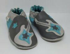 Robeez Superstar Rock Baby Leather Babyshoes / Slippers In Mint condition 6-12 M