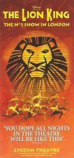 "Elton John ""THE LION KING"" Cornell John / Original London Cast Photos 2001 Flyer"
