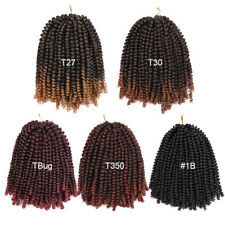 Women's Spring Twist Braid Ombre Colors Crochet Synthetic Hair Extension 8 Inch