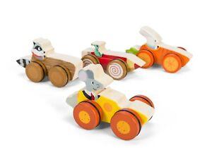 Woodland Racer, Neu, Waldtiere, Geschenkidee, Le Toy Van, Holzauto,Holzspielzeug