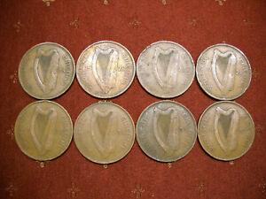 Lot of (8) Irish Republic Penny or 'Pingin' KM# 3, (4) 1928, (3) 1935 & (1) 1937