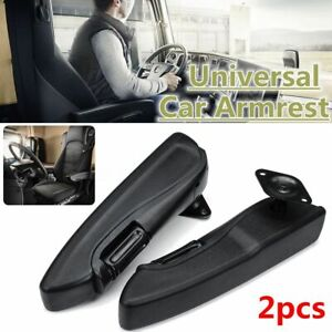 Pair Right Left Car Adjustable Comfort Seat Armrest Console Arm Rest Truck   //