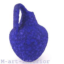"""RARE 50er Design Argento Cardo CERAMICA BLUE """"Fat Lava"""" Pottery Pitcher VASO 1950s"""
