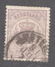 NETHERLANDS STAMP #22  — 2.5c NUMERAL -1870 - HIGH VALUE - USED.