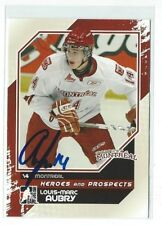 Louis-Marc Aubry Signed 2010/11 Heroes And Prospects Card #50