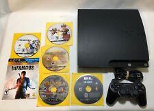 Sony PlayStation 3 PS3 Slim 250GB CECH-2001B Console Bundle Tested 6 games