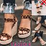 Womens Wedge Sandals Espadrilles Ladies Platform High Heels Slingback Shoes Size