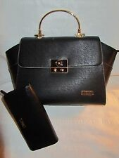SERENADE GENUINE LEATHER HAND BAG new tag black in colour 1 short 1 long wallet