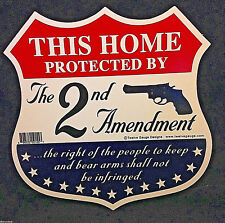 """""""This Home Protected by the Second Amendment"""" Sign and Decals w Free Stickers"""