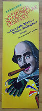 The Reduced Shakespeare Company programme 1996 tour Complete works William