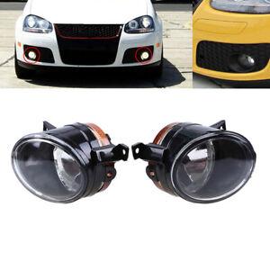 1Pair Fog Lights For VW Jetta Bora Golf Mk5 2004 2005 2006 2007 2008 2009 2010