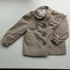 Girls Size US 1.5 - 2 Button Up Lined 100% Cotton Pea Jacket Coat