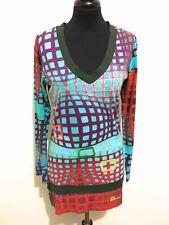 DESIGUAL Maglia Maglietta Donna Cotone Cotton Woman T-Shirt Sweater Sz.S - 42