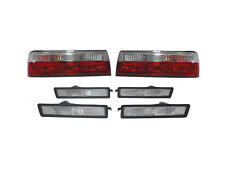 Euro Red/Clear Tail + Front/Rear Side Marker Lights For 1983-87 BMW E30 3 Series
