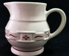 """Longaberger Pottery Creamer """"Woven Traditions"""" Red discontinued"""
