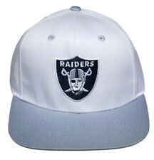 a2ab50bd3 vintage oakland raiders white snapback cap one size fits all