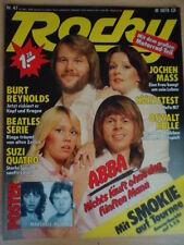 ROCKY 47 - 16.11. 1978 ABBA Smokie Marshall Hain Suzi Quatro Ringo Starr Beatles