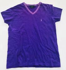 Ralph Lauren Shirt Girls Youth Xsmall Purple Tshirt Vneck 100% Cotton