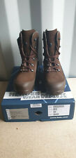 New listing British Army HAIX Brown High Liability Desert Combat Boots UK Size 12 Wide NEW