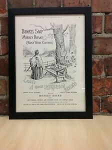Framed Original Vintage Ad from The Graphic Queen's Diamond Jubilee June 1, 1897