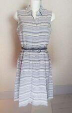 Linen Blend Shirt Striped Dresses for Women
