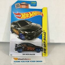 #1  2008 Lancer Evolution #77 * BLACK * 2015 Hot Wheels * NF22