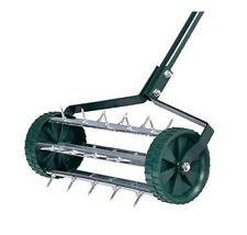Rolling Garden Lawn Spike Aerator Roller Home Grass Steel Handle W/50inch Handle